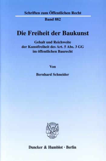 Cover: Die Freiheit der Baukunst