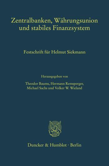 Cover: Zentralbanken, Währungsunion und stabiles Finanzsystem