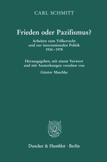 Cover: Frieden oder Pazifismus?