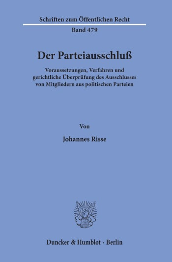 Cover: Der Parteiausschluß