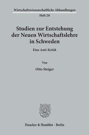 Cover: Wirtschaftswissenschaftliche Abhandlungen (WAH)