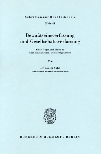 Cover: Bewußtseinsverfassung und Gesellschaftsverfassung