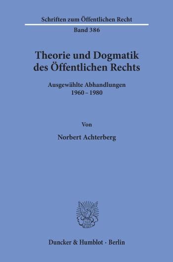 Cover: Theorie und Dogmatik des Öffentlichen Rechts