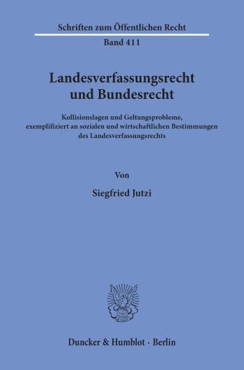 Cover: Landesverfassungsrecht und Bundesrecht