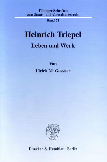 Cover: Heinrich Triepel