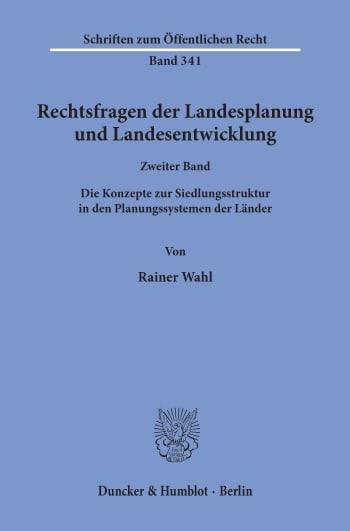 Cover: Rechtsfragen der Landesplanung und Landesentwicklung