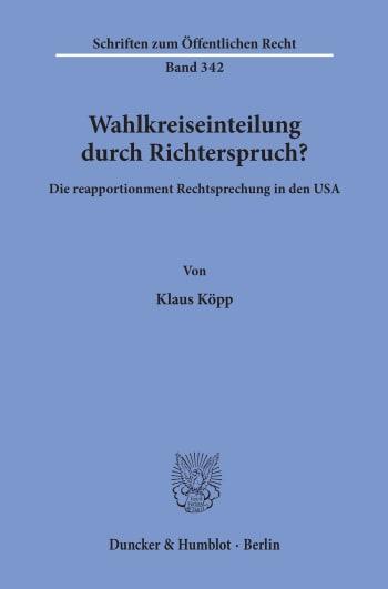 Cover: Wahlkreiseinteilung durch Richterspruch?
