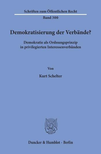 Cover: Demokratisierung der Verbände?