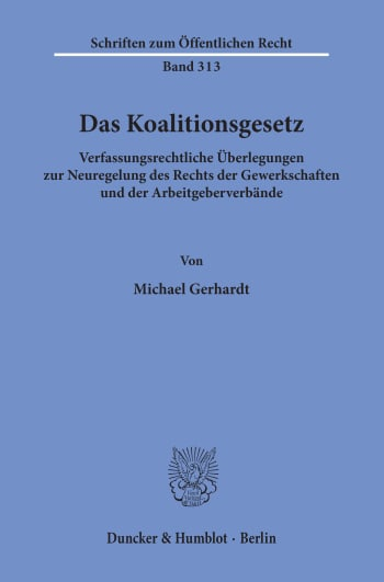 Cover: Das Koalitionsgesetz