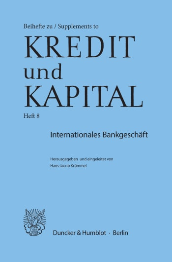 Cover: Internationales Bankgeschäft