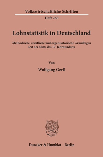 Cover: Lohnstatistik in Deutschland