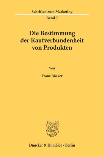 Cover: Die Bestimmung der Kaufverbundenheit von Produkten