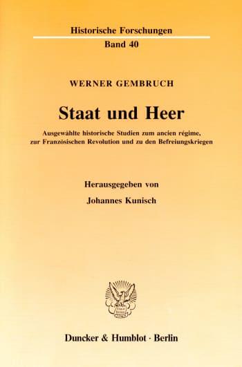 Cover: Staat und Heer