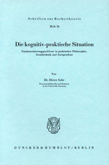 Cover: Die kognitiv-praktische Situation