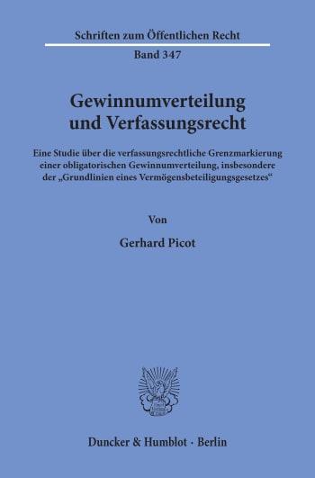 Cover: Gewinnumverteilung und Verfassungsrecht