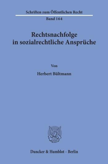 Cover: Rechtsnachfolge in sozialrechtliche Ansprüche