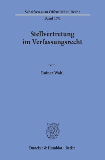 Cover: Stellvertretung im Verfassungsrecht