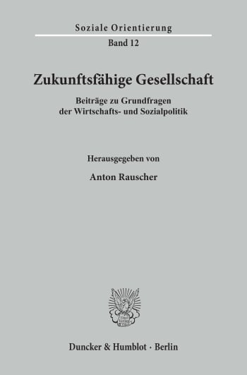 Cover: Zukunftsfähige Gesellschaft