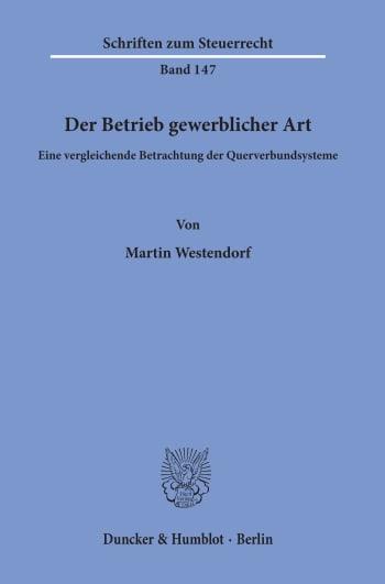 Cover: Der Betrieb gewerblicher Art