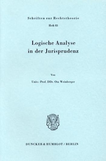 Cover: Logische Analyse in der Jurisprudenz