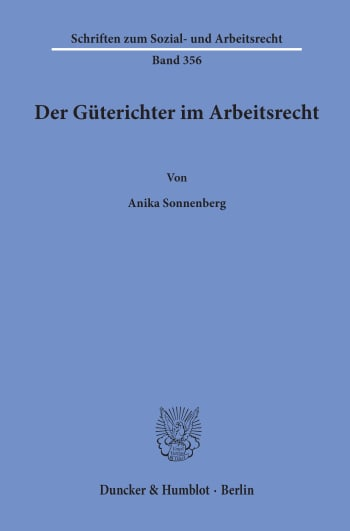 Cover: Der Güterichter im Arbeitsrecht