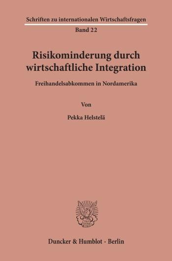 Cover: Risikominderung durch wirtschaftliche Integration