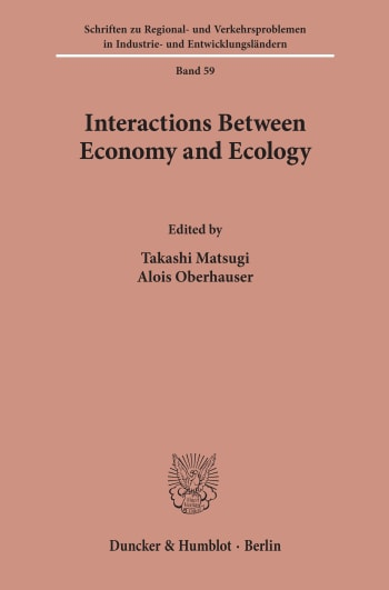 Cover: Interactions Between Economy and Ecology