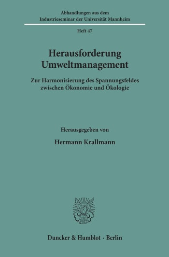 Cover: Herausforderung Umweltmanagement