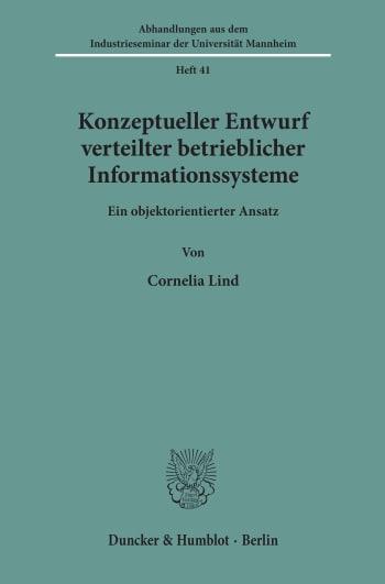 Cover: Konzeptueller Entwurf verteilter betrieblicher Informationssysteme