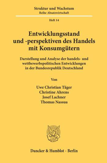 Cover: ifo Struktur und Wachstum. Reihe Absatzwirtschaft (IFO A)