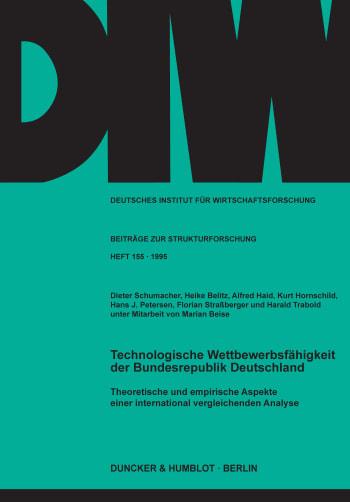 Cover: Technologische Wettbewerbsfähigkeit der Bundesrepublik Deutschland