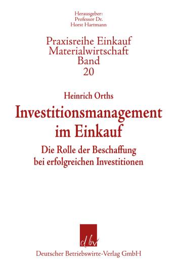 Cover: Investitionsmanagement im Einkauf