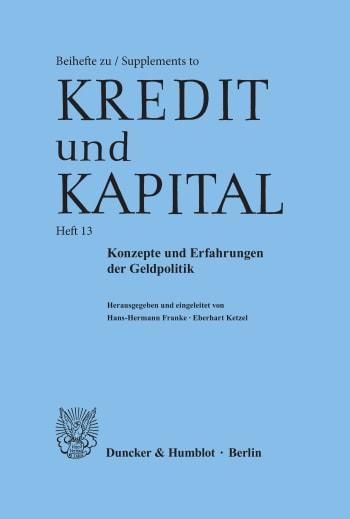 Cover: Konzepte und Erfahrungen der Geldpolitik