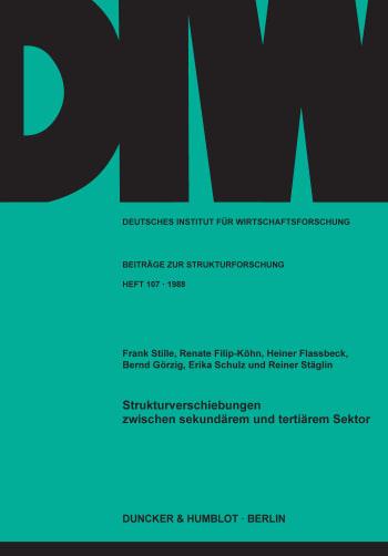 Cover: Strukturverschiebungen zwischen sekundärem und tertiärem Sektor