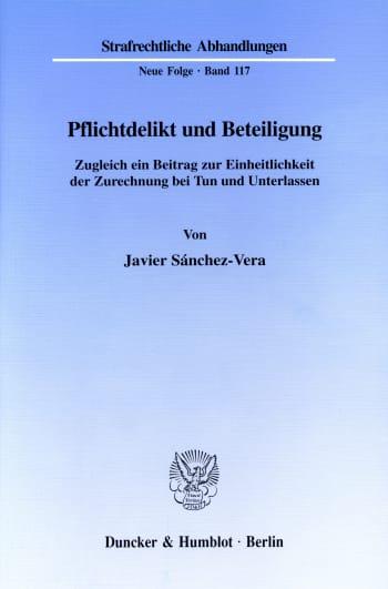 Cover: Pflichtdelikt und Beteiligung