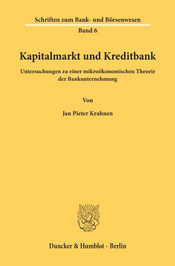 Cover: Kapitalmarkt und Kreditbank