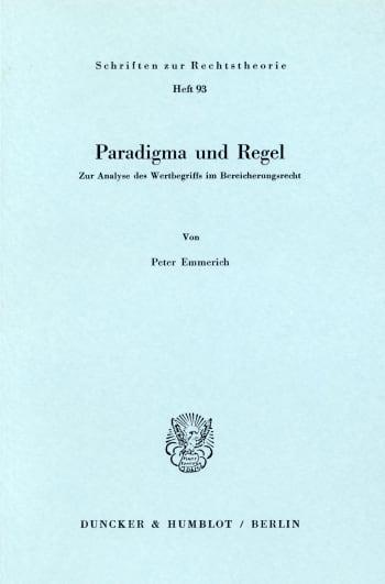 Cover: Paradigma und Regel