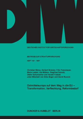 Cover: Ostmitteleuropa auf dem Weg in die EU -