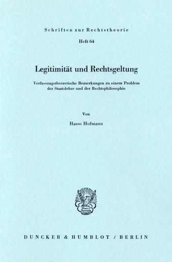 Cover: Legitimität und Rechtsgeltung