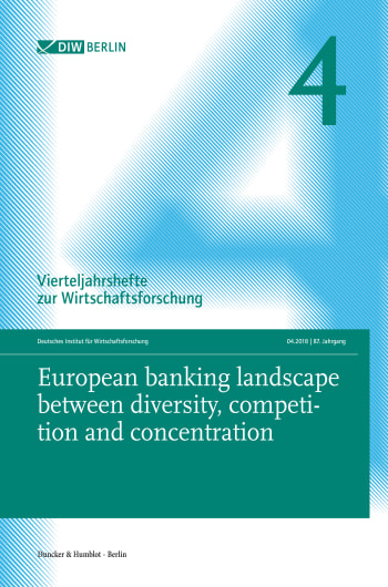 Cover: European banking landscape between diversity, competition and concentration