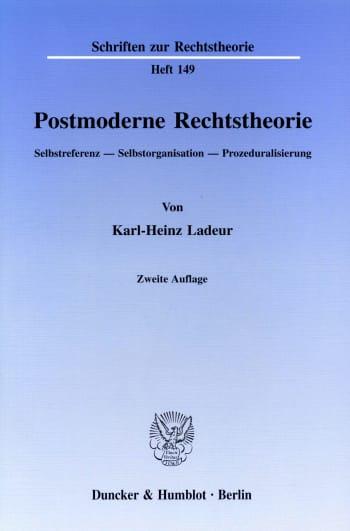 Cover: Postmoderne Rechtstheorie