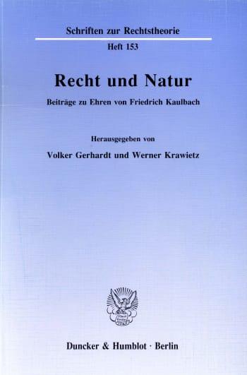 Cover: Recht und Natur
