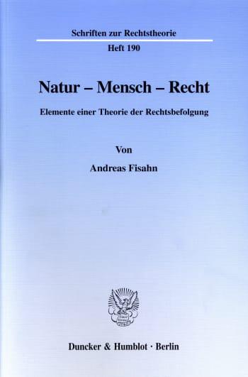 Cover: Natur - Mensch - Recht
