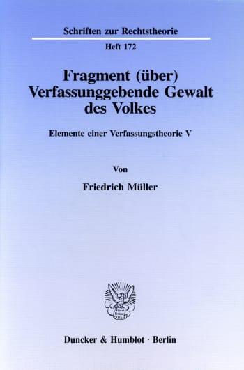 Cover: Fragment (über) Verfassunggebende Gewalt des Volkes