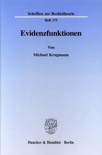 Cover: Evidenzfunktionen