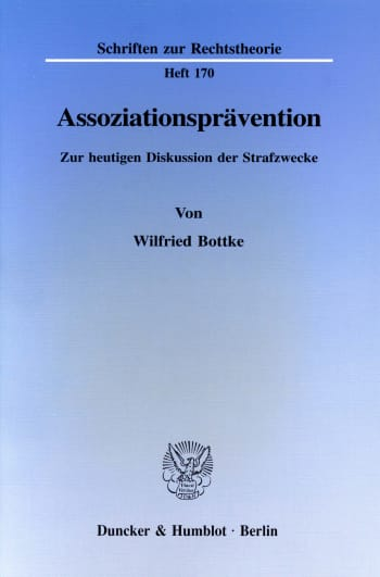 Cover: Assoziationsprävention
