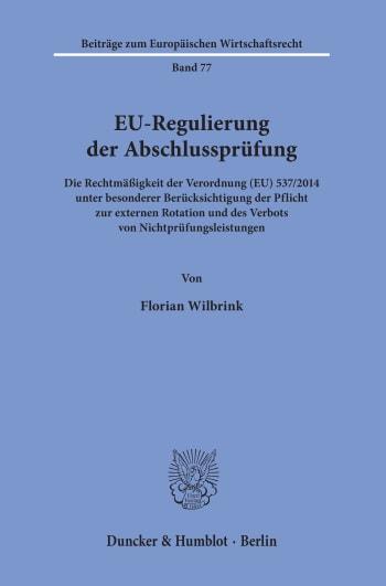 Cover: EU-Regulierung der Abschlussprüfung