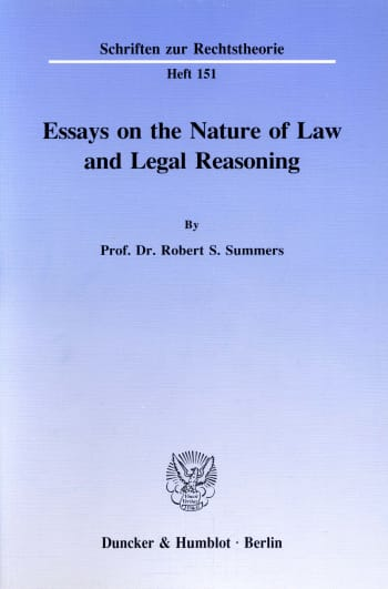 Cover: Essays on the Nature of Law and Legal Reasoning