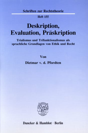 Cover: Deskription, Evaluation, Präskription