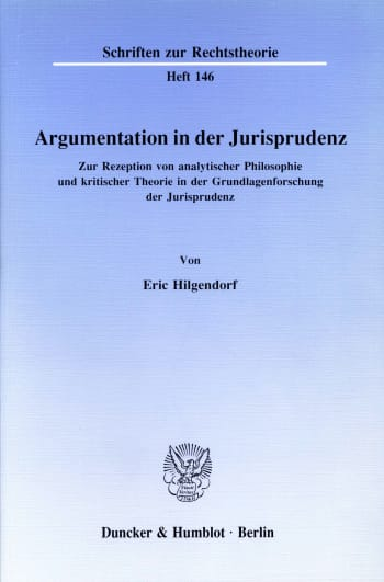 Cover: Argumentation in der Jurisprudenz